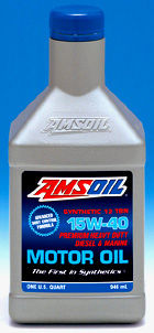 Amsoil 15W40 Strong Amti-wear Synthetic Formulia. Outlasts all others!